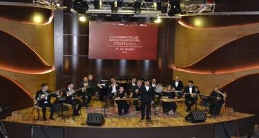 """Beynəlxalq Muğam Mərkəzində """"II Azərbaycan Xalq Mahnıları Festivalı"""" sona çatıb (FOTO)"""