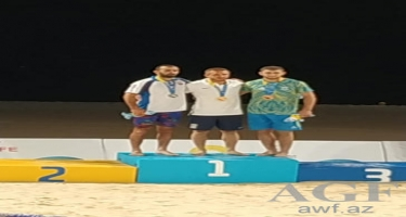Güləşçilərimiz Dünya Çimərlik Oyunlarında iki medal qazanıb