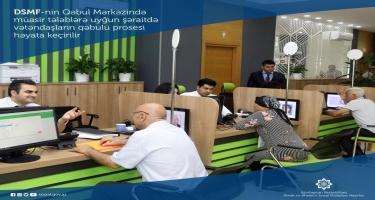 DSMF-nin Qəbul Mərkəzində müasir tələblərə uyğun şəraitdə vətəndaşların qəbulu prosesi həyata keçirilir