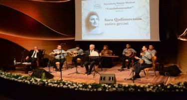 Beynəlxalq Muğam Mərkəzində Sara Qədimovanın xatirə gecəsi keçirilib (FOTO)