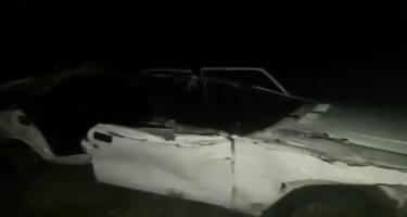 Ötən gecə Bakı-Quba yolunda ağır qəza oldu - 3 nəfər xəsarət aldı (VİDEO)