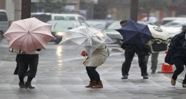 Temperatur aşağı düşəcək, külək və yağış XƏBƏRDARLIĞI
