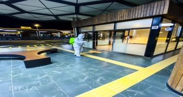 BNA havaların soyuması ilə əlaqədar dezinfeksiya işləri aparır (FOTO)