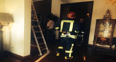 Suraxanıda 2 otaqlı ev yanıb