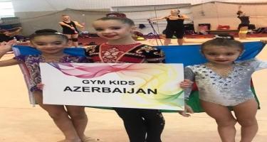 Balaca gimnastımız Mina Abbasova bir ayda dördüncü medalını qazanıb (FOTO)