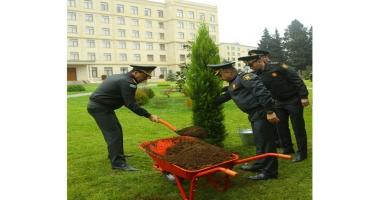 Müdafiə Nazirliyi ağacəkmə aksiyasında iştirak edib (FOTO)