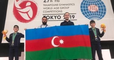Batutçularımız gimnastika tariximizdə ilk dəfə olaraq dünya ikincisi oldular (FOTO)