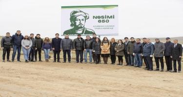 Nazirlik əməkdaşları ağacəkmə kampaniyasında iştirak edib (FOTO)
