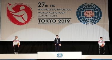 Tokioda növbəti yeniyetmə gimnastımız qızıl medal qazanıb (FOTO)