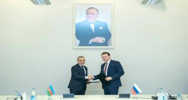 Azərbaycan-Rusiya arasında Niyyət Protokolu imzalanıb (FOTO)