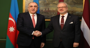 Elmar Məmmədyarov Latviya Prezidenti ilə görüşüb (FOTO)