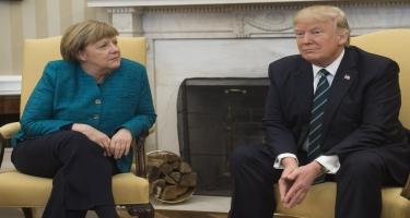 Merkel Trampla İran və İraq ətrafındakı vəziyyəti müzakirə edib