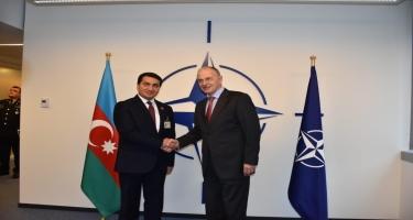 Hikmət Hacıyev NATO Baş katibinin müavini ilə görüşüb (FOTO)