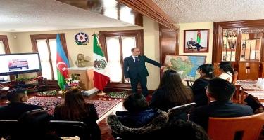 20 Yanvar faciəsinin 30-cu ildönümü ilə əlaqədar Meksikada anım mərasimi keçirilib (FOTO)