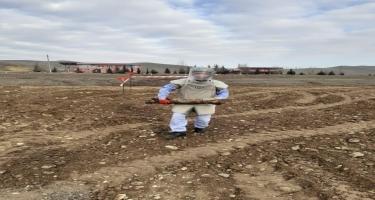 Füzulidə həyətyanı sahədə raket hissəsi tapılıb (FOTO)