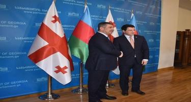 Zakir Həsənov Gürcüstan Parlamentinin sədri ilə görüşüb (FOTO)