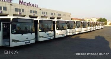 Sabahdan bu xətt üzrə avtobuslar dəyişdirilir (FOTO)