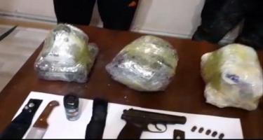Biləsuvarda 16 kq-dan artıq narkotik vasitə və silah-sursat aşkarladı