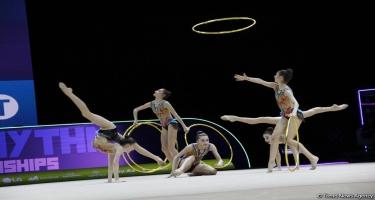 Bakıda bədii gimnastika üzrə 35-ci Avropa çempionatının finalı keçirilir (FOTO)