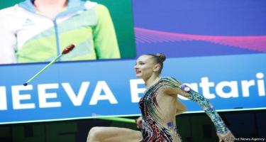 Bədii gimnastika üzrə 35-ci Avropa Çempionatının final yarışlarından maraqlı anlar (FOTO)