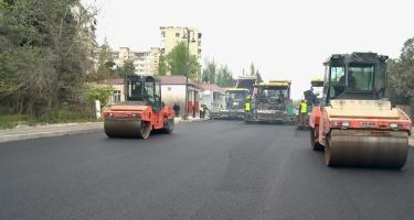 Xətai rayonu Səməd bəy Mehmandarov küçəsi yenidən qurulur (FOTO)