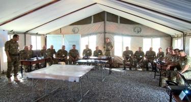 Azərbaycan Ordusunun genişmiqyaslı əməliyyat-taktiki təlimləri davam edir (FOTO/VİDEO)
