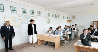 Azərbaycanın Birinci vitse-prezidenti Mehriban Əliyeva Bakının Kürdəxanı qəsəbəsində olub (FOTO)