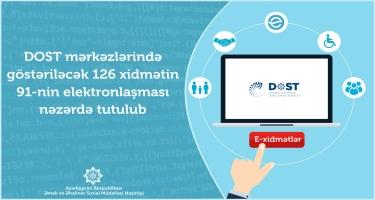 DOST mərkəzinin onlayn xidmətlər bazası genişləndirilir