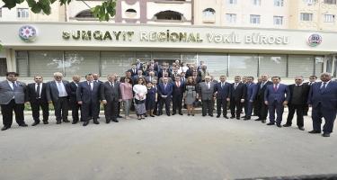 Vəkillər Kollegiyasının ilk regional qurumunun açılışı olub (FOTO)