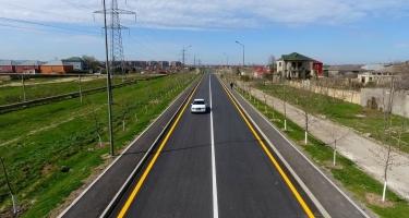 Abşeronda nəqliyyat axınına müsbət təsir edən yol yenidən quruldu (FOTO)