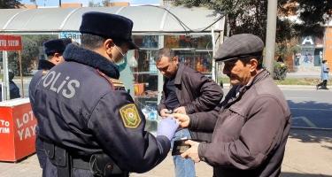 Sumqayıtda xüsusi karantin rejimini pozduğu üçün 100-ə yaxın şəxs cərimələnib (FOTO)