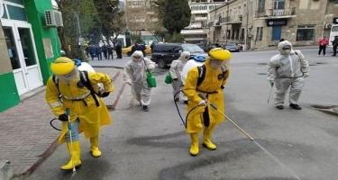 Bayılda yaşayış sahəsində dezinfeksiya işləri davam etdirilir (FOTO)