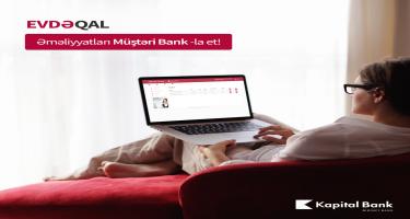 Evdə qal və əməliyyatları Müştəri Bank-la et!