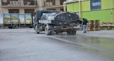 Abşeron rayonunda mütəmadi olaraq dezinfeksiya işləri aparılır (FOTO)