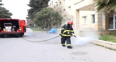 FHN dezinfeksiya işlərini davam etdirir (VİDEO)