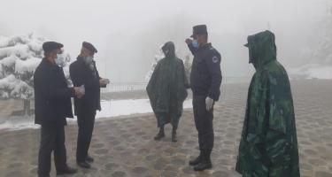 Lerikdə karantin rejiminə ciddi nəzarət olunur (FOTO)