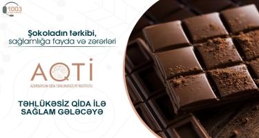 Şokoladın tərkibi, sağlamlığa fayda və zərərləri