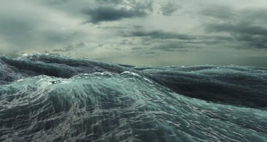 Xəzər dənizində dalğanın hündürlüyü 4.5 metrə çatıb - FAKTİKİ HAVA