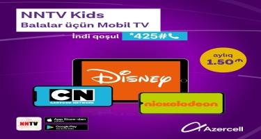 """Azercell uşaqlar üçün """"Mobil TV"""" xidmətini istifadəyə verdi"""