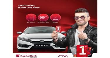 BirKart-la alış-veriş edib, Honda Civic avtomobili qazanın!