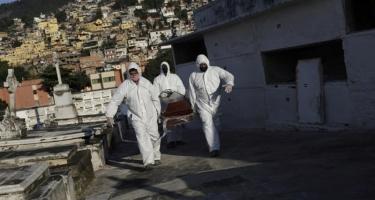 Braziliyada koronavirusdan rekord sayda ölüm qeydə alınıb
