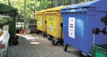 Paytaxtda həyətlərə əlavə konteynerlər qoyulub (FOTO)