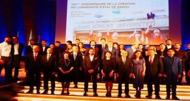 UNESCO-nun baş qərargahında Bakı Dövlət Universitetinin 100 illiyi təntənə ilə qeyd olunub (FOTO)