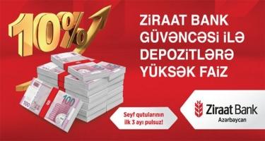 Ziraat Bank Güvəncəsi ilə Depozitlərə Yüksək Faiz!