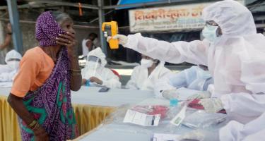Hindistanda rekord sayda koronavirusa yoluxma qeydə alınıb