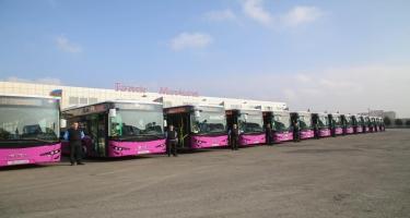 Avqustda Bakıya 300 ədəd yeni avtobus gətiriləcək