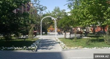 Nizami rayonunda parkın içində tikilən qanunsuz obyekt sökülüb (VİDEO)