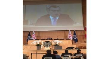 Sahil Babayev Beynəlxalq Əmək Konfransının sessiyasında çıxış edib