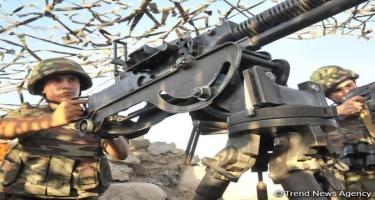 Ermənistan sutka ərzində artilleriya qurğularından istifadə etməklə atəşkəsi 70 dəfə pozub