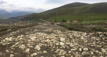 Leysan Quba-Xınalıq avtomobil yolunu dağıdıb, hərəkət çətinləşib (FOTO/VİDEO)